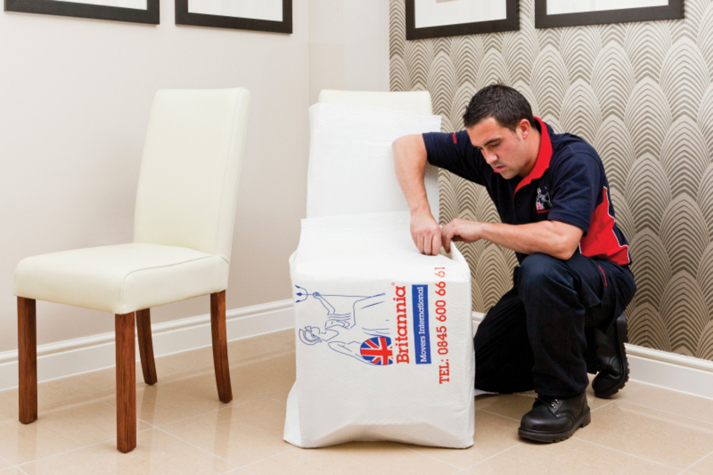 Man Packing Away Chair